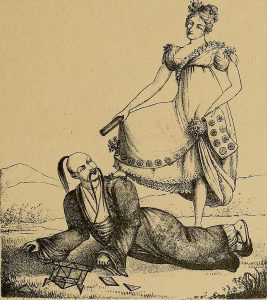 Scène de rupture après utilisation de Tar en mode verbeux (Chine, XIeme siècle, collection privée)